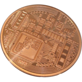 現貨 - 比特幣-彩色硬幣(普鑄)-鍍銅色(附塑殼)