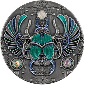 預購(即將到貨) - 2021紐埃-水晶-聖甲蟲-2盎司銀幣