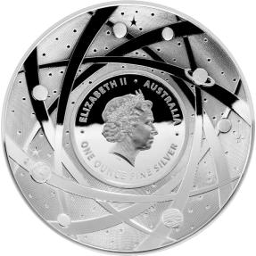 現貨 - 2019澳洲皇家-地球與超越系列-太陽-凸面造型-1盎司銀幣