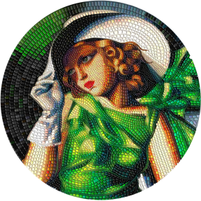 預購(排單中) - 2021帛琉-偉大的微馬賽克激情-綠色的年輕女孩-3盎司銀幣
