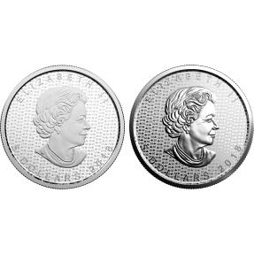 現貨 - 2017加拿大-楓葉-30週年紀念-1盎司銀幣-2枚組