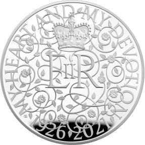 預購(即將到貨) - 2021英國-英女王95歲誕辰-5盎司銀幣
