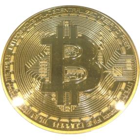 現貨 - 比特幣-彩色硬幣(普鑄)-鍍金色,鍍銅色-鍍銀色-一組三枚(附塑殼)