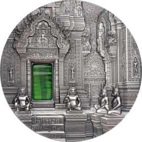 現貨 - 2019帛琉-蒂芙尼藝術系列-吳哥古蹟-2盎司仿古銀幣