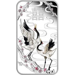 現貨 - 2019吐瓦魯-中國婚禮-鶴-1盎司銀幣