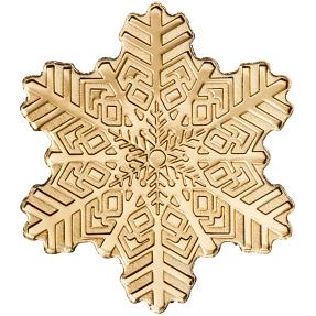 現貨 - 庫克群島-金色雪花-造型-0.5克金幣