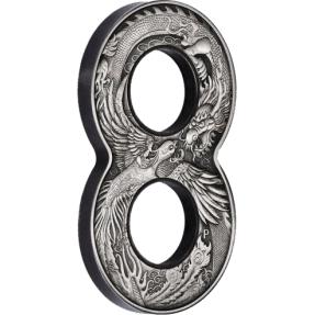 現貨 - 2020澳洲伯斯-龍與鳳-八字造型-2盎司銀幣