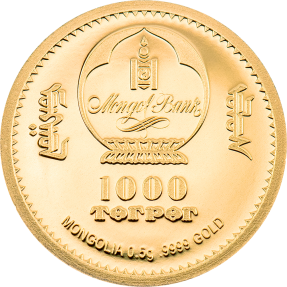 預購(確定有貨) - 2021蒙古-生命演化系列-傍人-0.5克金幣
