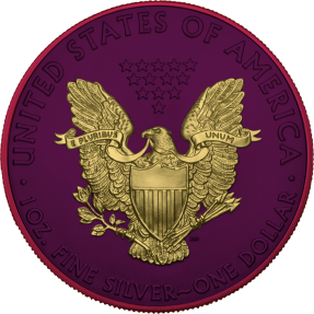 預購(確定有貨) - 2021美國-鷹揚-太空金屬版-1盎司銀幣