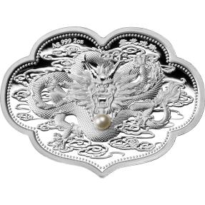 預購(確定有貨) - 2021薩摩亞-如意盤龍-珍珠-2盎司銀幣