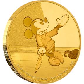 現貨 - 2016紐埃-迪士尼米奇跨越時空系列-勇敢小裁縫師-0.5克金幣