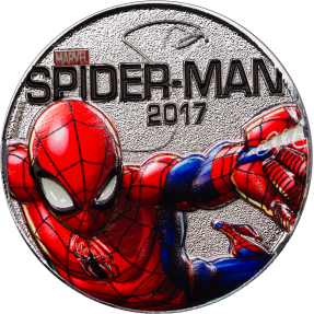 現貨 - 2017斐濟-Marvel 燈光系列-蜘蛛人-鍍銀-56.29克硬幣