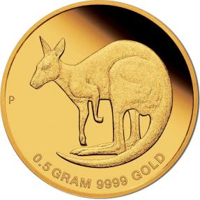 現貨 - 2021澳洲伯斯-迷你金幣系列-袋鼠-0.5克金幣