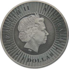現貨 - 2016澳洲伯斯-袋鼠-1盎司銀幣-仿古版
