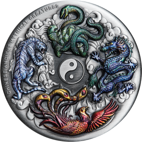現貨 - 2021吐瓦魯-中國古代-四聖獸-5盎司銀幣