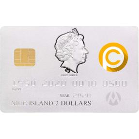 預購(確定有貨) - 2020紐埃-信用卡-70週年紀念-造型-46.46克銀幣(Power Coin特別版)