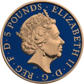 現貨 - 2017英國-獅鷲-2盎司銀幣-彩色版