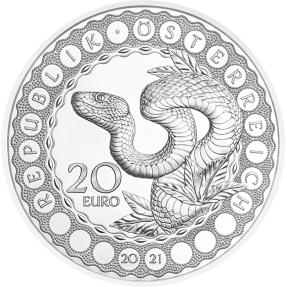 預購(限已確認者下單) - 2021奧地利-世界之眼系列-造蛇物主-22.42克銀幣