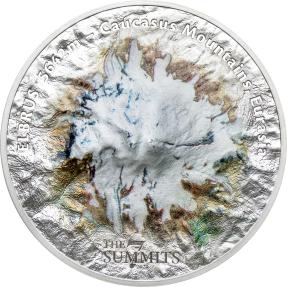 預購(確定有貨) - 2021庫克群島-7頂峰系列-厄爾布魯士山-5盎司銀幣