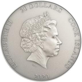 現貨 - 2020庫克群島-世界之神系列-宇宙的保護者-濕婆-3盎司銀幣