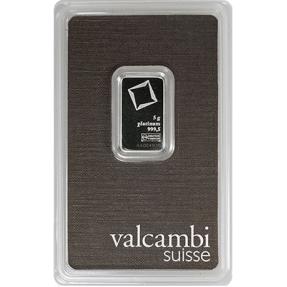 現貨 - Valcambi-5克鉑金條(卡裝)
