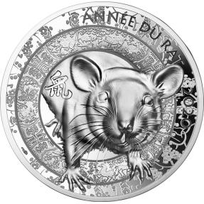 現貨 - 2020法國-生肖-鼠年-1盎司銀幣
