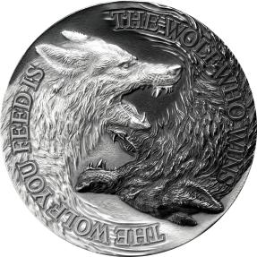 預購(確定有貨) - 2021紐埃-雙狼-1盎司銀幣
