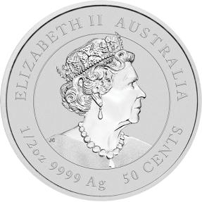現貨 - 2020澳洲伯斯-生肖-牛年-1/2盎司銀幣(普鑄)