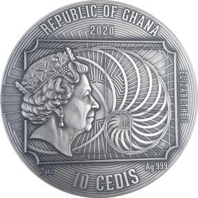 現貨 - 2020迦納-世界上最偉大藝術家系列-古斯塔夫·克林姆-2盎司銀幣