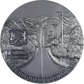 現貨 - 2018查德-隕石藝術系列-阿根廷鎳鐵隕石-5盎司銀幣