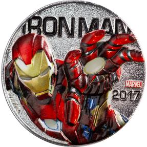 現貨 - 2017斐濟-Marvel 燈光系列-鋼鐵人-鍍銀-56.29克硬幣