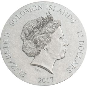 現貨 - 2017索羅門群島-聖誕夜-5盎司銀幣