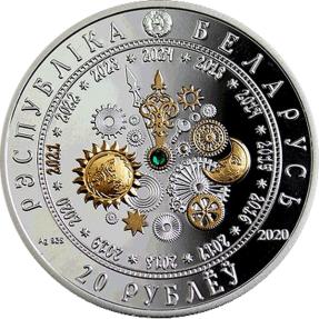 現貨 - 2020白俄羅斯-生肖-牛年-1盎司銀幣