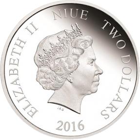 現貨 - 2016紐埃-迪斯尼-小飛象75週年紀念-1盎司銀幣-(氧化白斑)