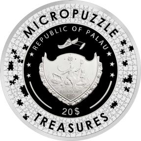 預購(限已確認者下單) - 2022帛琉-微拼圖寶藏系列-傘下的情侶-3盎司銀幣