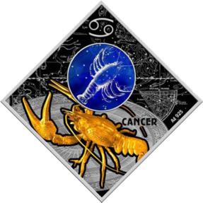 現貨 - 2018馬其頓-星座系列-巨蟹座-23.3克銀幣