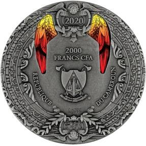 現貨 - 2020喀麥隆-天使系列-米迦勒-2盎司銀幣