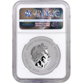 現貨 - 2018吐瓦魯-雷神-索爾-1盎司銀幣(普幣)-NGC MS70鑑定幣-First Release版(Marvel標籤-白底)
