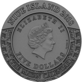 現貨 - 2018紐埃-古代日曆-瑪雅曆-2盎司銀幣