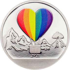 現貨 - 2021庫克群島-水晶球系列-熱氣球-1/10盎司銀幣