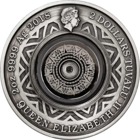 現貨 - 2018吐瓦魯-溫度計-2盎司銀幣