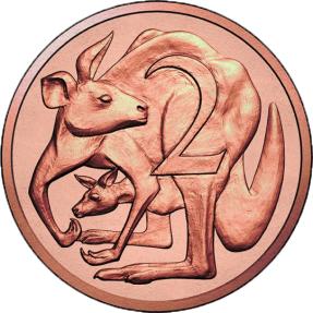 現貨 - 2017澳洲皇家-澳幣2分-袋鼠-青銅幣-卡裝(非流通幣)