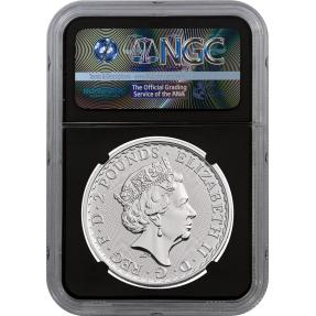 現貨 - 2018英國-不列顛-1盎司銀幣-NGC MS69鑑定幣-First Release版-大笨鐘標籤(黑底)