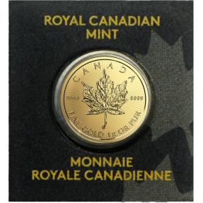 現貨 - 加拿大-楓葉-1克金幣-原廠封裝 ( 隨機年份 )