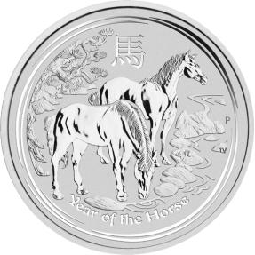 現貨 - 2014澳洲-馬年-1盎司銀幣