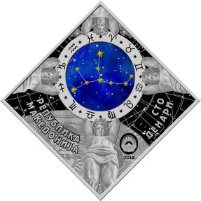 現貨 - 2018馬其頓-星座系列-處女座-23.3克銀幣