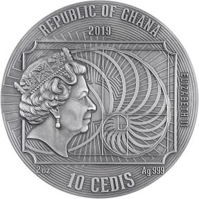 現貨 - 2019迦納-世界上最偉大藝術家系列-李奧納多·達文西-2盎司銀幣