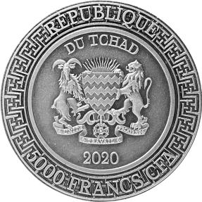 現貨 - 2020查德-中國天干地支系列-梁上之鼠-2盎司銀幣