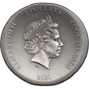預購(確定有貨) - 2020庫克群島-烏龜-超高浮雕-1盎司銀幣