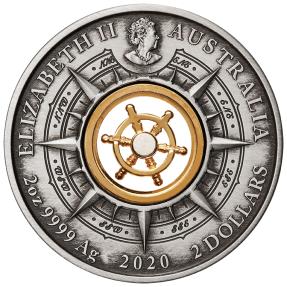 現貨 - 2020澳洲伯斯-發現之旅-奮進號-2盎司銀幣